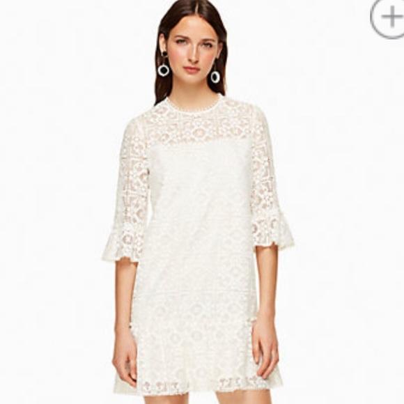 17edc952580a kate spade Dresses | Nwt Lace Flounce Shift Dress 4 | Poshmark